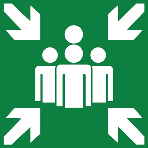 Återsamlingsplats - Skylt