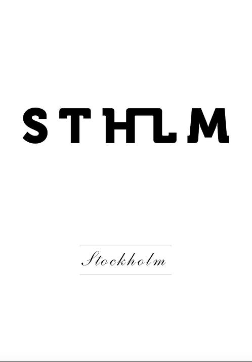 Affisch - STHLM