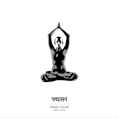 Affisch - Yoga Padmasana