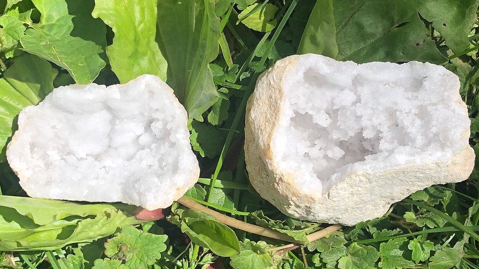 Moroccan Sugar Quartz Geode (A126)