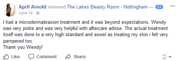 client review facials nottingham