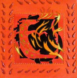 """Fire 8   6""""x6"""""""