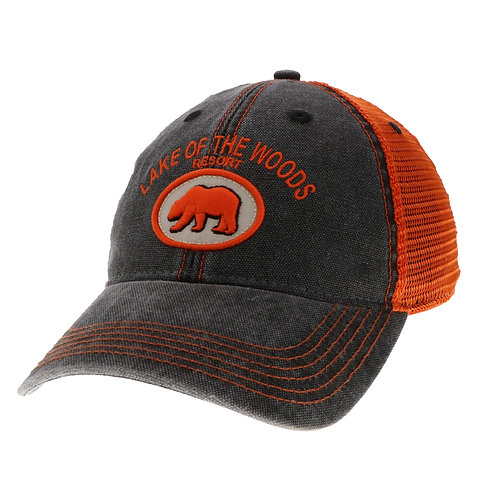 Black/Orange Dashboard Trucker cap