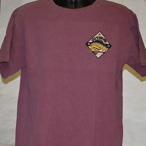 T Shirt: Fly/Brown Trout Blue 84