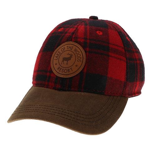 Red/Brown Vintage Wool Flannel Cap