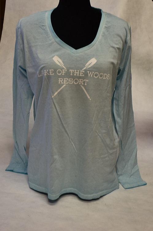 T-Shirt: Tipsy W Dirty Wash L/S