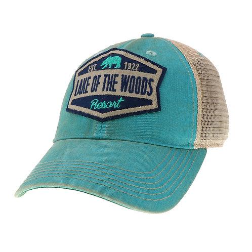 Aqua Blue Women's Old Favorite Trucker Cap