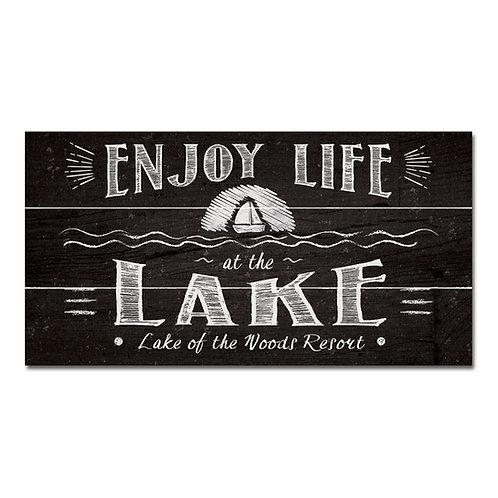 Sign Legacy Wood Plank 11x20 Chalkboard Enjoy Life At The Lake