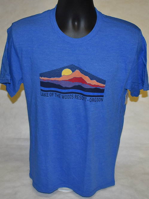 T-Shirt: Men's Triblend T Veneration Blue84