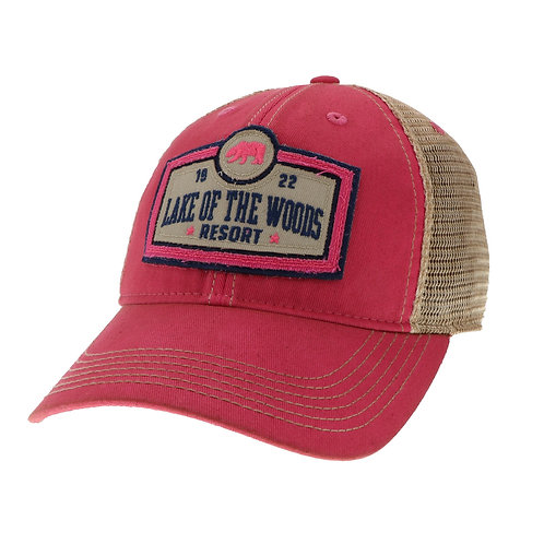 Dark Pink Old Favorite Youth Trucker cap