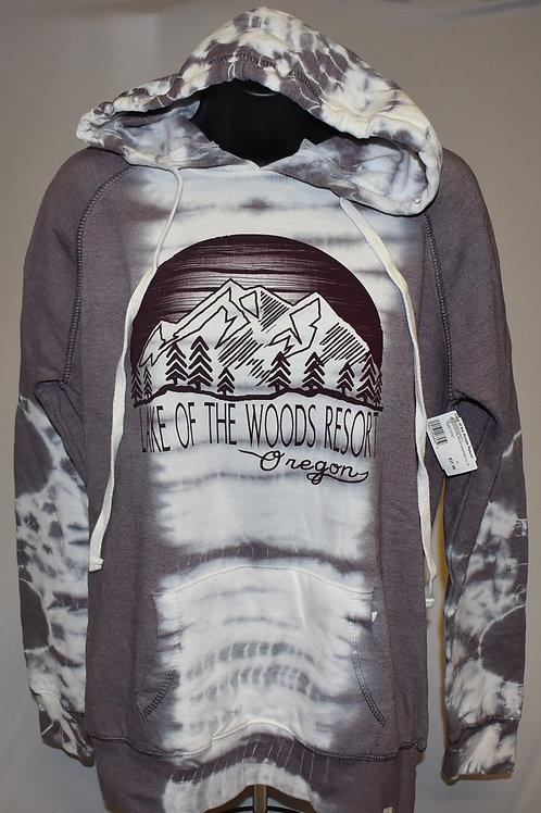 Sweatshirt: Blue 84 Juxtapose Mountain Pines Hoodie