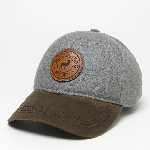 Grey/Brown Vintage Wool Flannel Cap