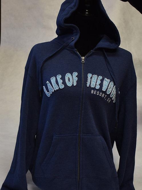 Hoodie: Blue84 Taymore Font Zip Twill/Twill