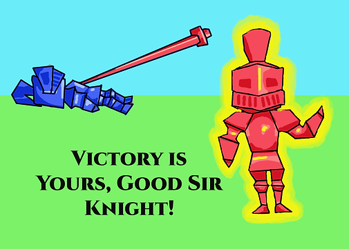 win-loss slide knights- red victory text