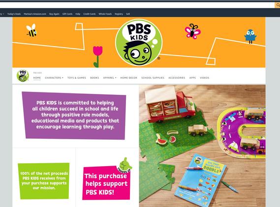 PBS KIDS Amazon Brand Page