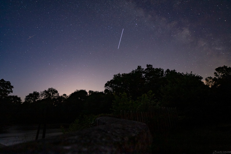 Milky way, Iss and shooting star