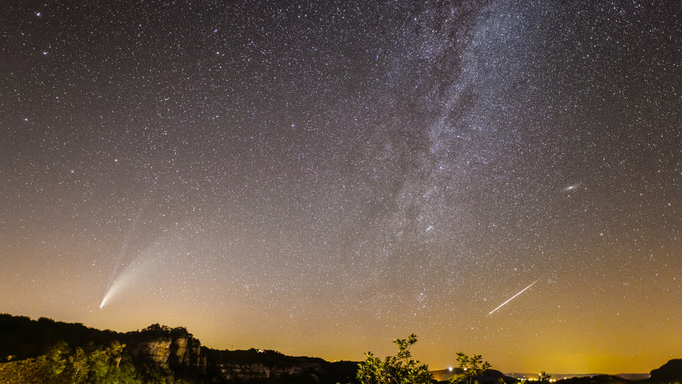 Neowise, androméde et le méteore