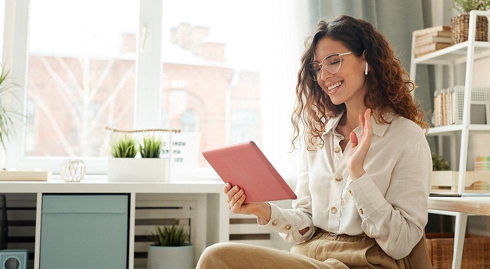 businesswoman-speaking-during-online-mee