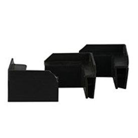 Esquinero Plástico Para Caja de Coroplast Caja c /100 pares