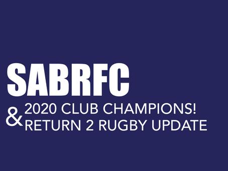 2020 CLUB CHAMPIONS & SABRFC R2R UPDATE