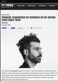 Geographer - Noisey/Vice