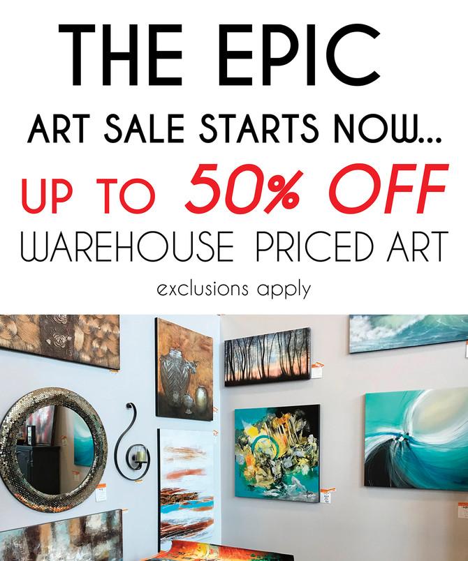 EPIC ART SALE