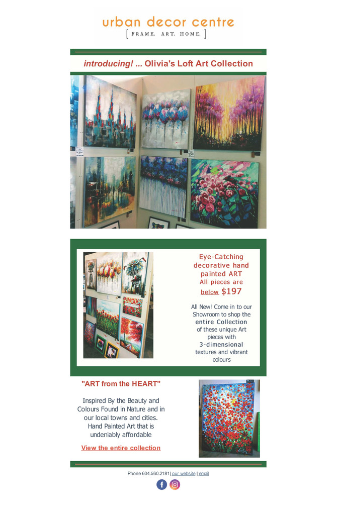 Introducing! Olivia's Loft Art Collection