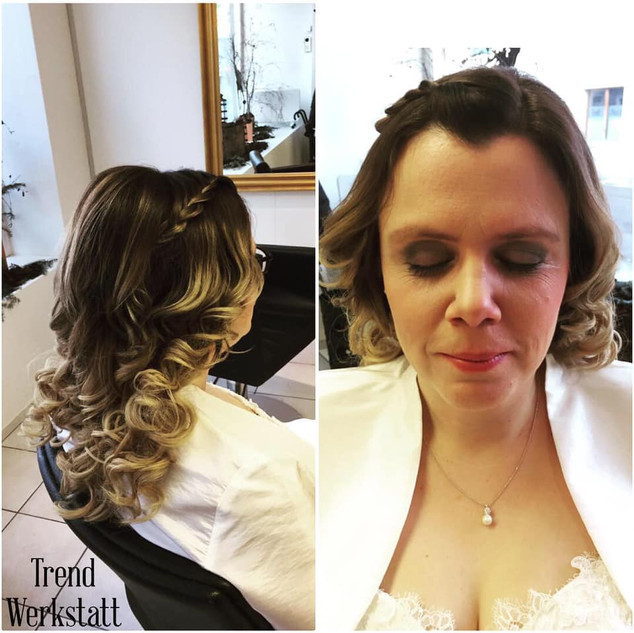 Hochzeitsstyling und Make Up