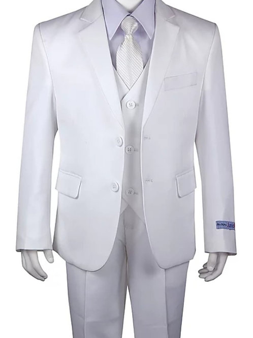 Youth-Sized 3-Piece Suit - Solid White