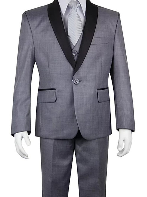 Youth-Sized 3-Piece Suit - Gray