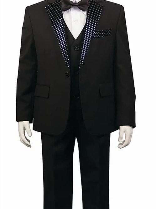 Youth-Sized Tuxedo - Black, Textured