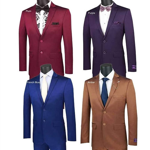 2-Pc Slim Fit Suits - Textured