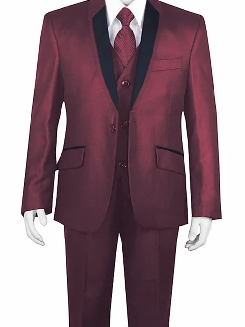 Youth-Sized 3-Piece Suit - Maroon