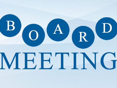 Announcing Inaugural Board Meeting - January 21, 2021 at 6 p.m.