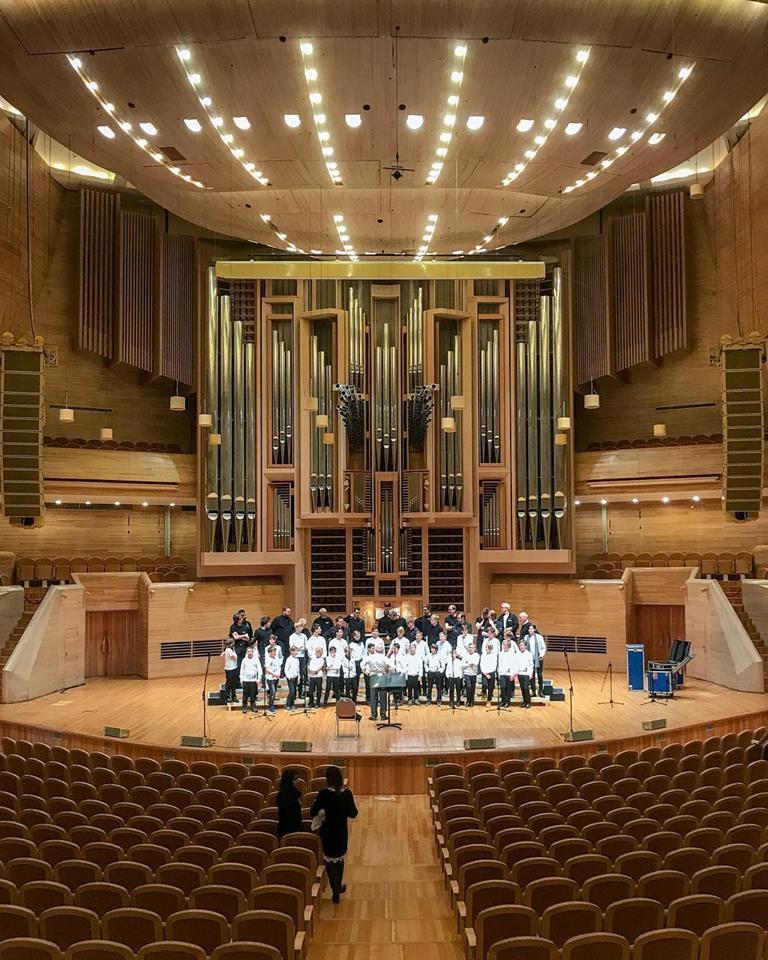 Sound check (Photo: Nidaros Choir)