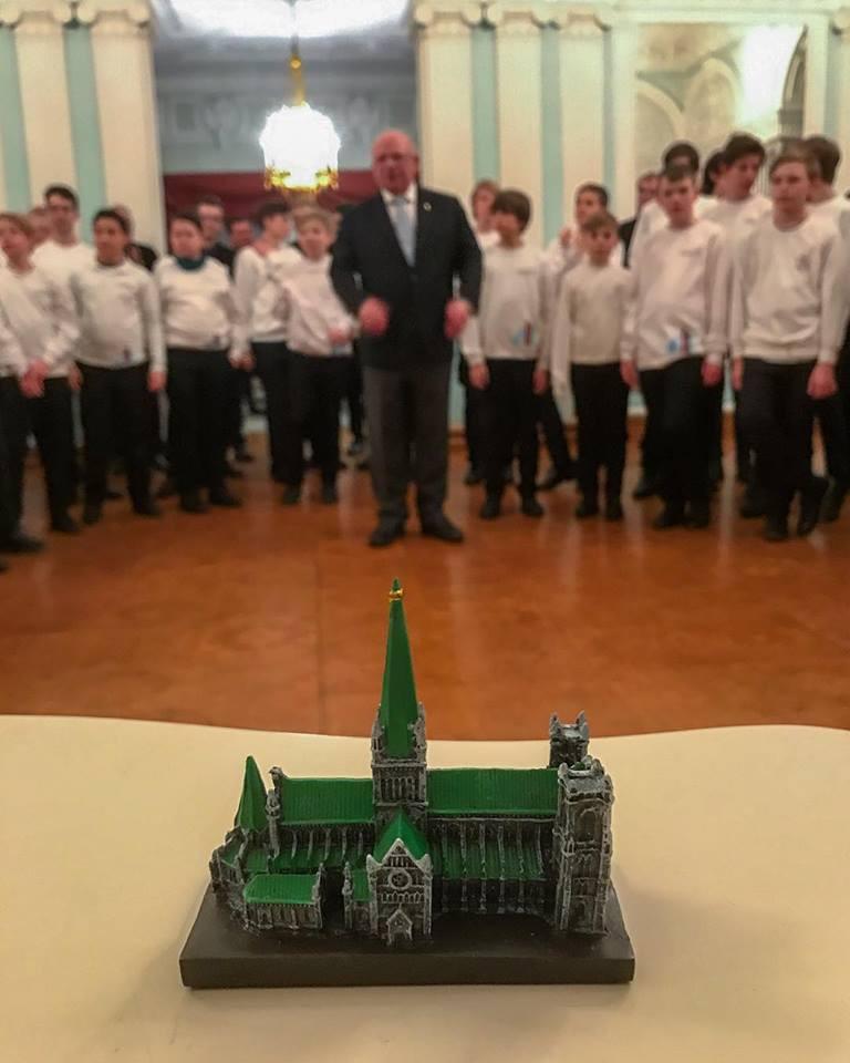 A gift from the choir (Photo: Nidaros Choir)