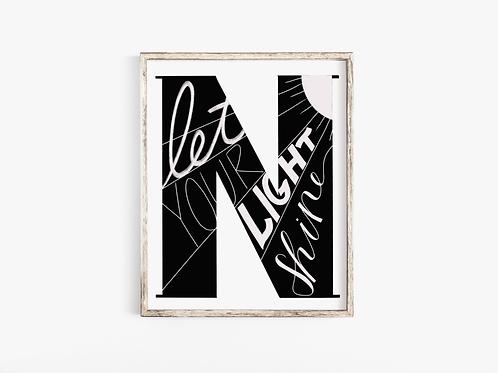 N-Letter Print