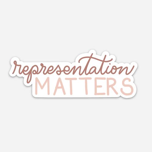 Representation Matters Sticker