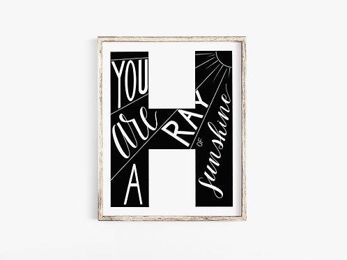 H-Letter Print
