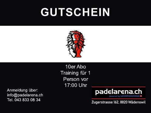 10er Abo Training für 1 Person vor 17:00 Uhr