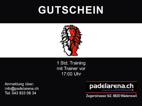 Gutschein 1 std. Training vor 17:00 Uhr für 1, 2, oder 3 Personen