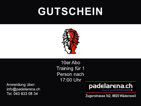 10er Abo Training für 1 Person nach 17:00 Uhr