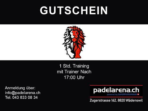 Gutschein 1 std. Training nach 17:00 Uhr für 1, 2, oder 3 Personen