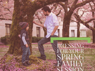 Dressing for a Spring Family Session