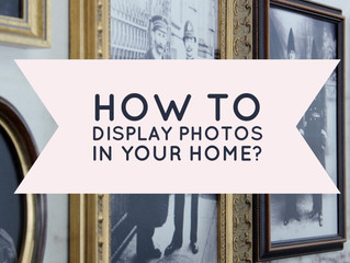 Choosing the best way to display photos in your home