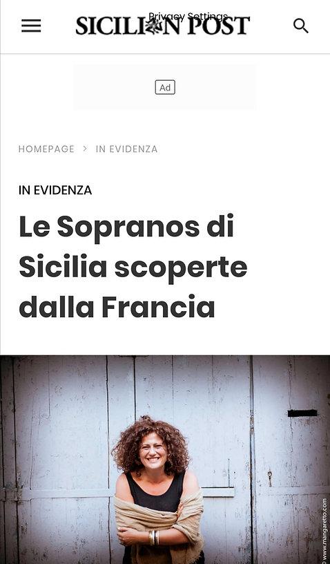 Le Sopranos di Sicilia scoperte dalla Fr