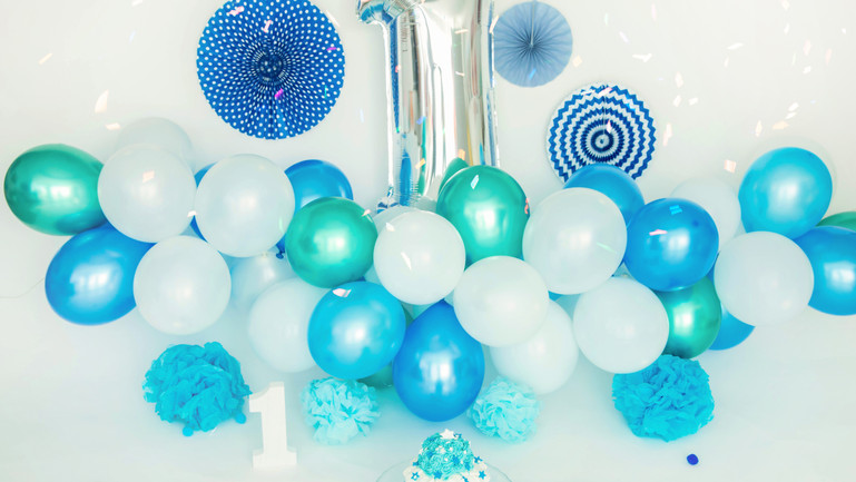 Smash the cake azul niño