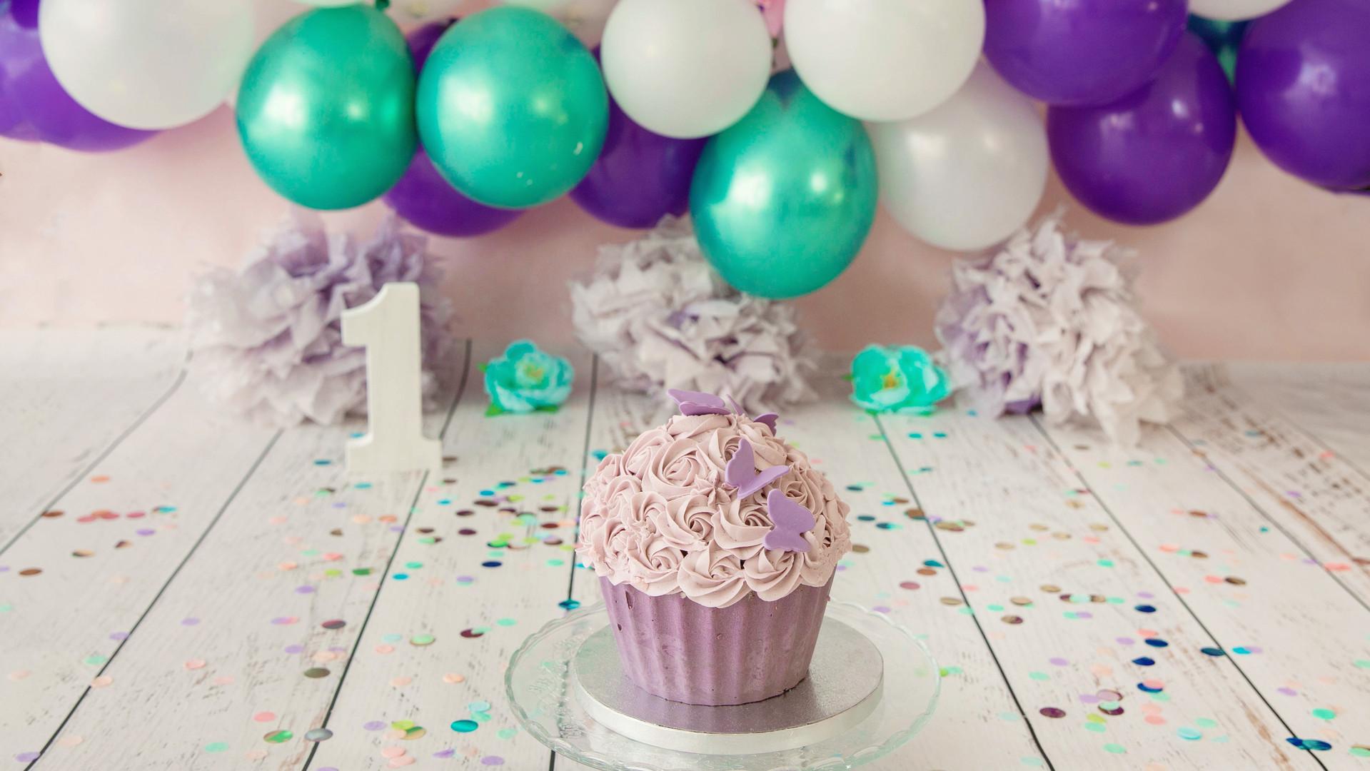 Smash the cake lilas