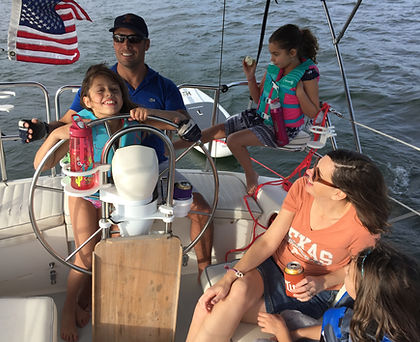 Family fun sailing on Lake Travis