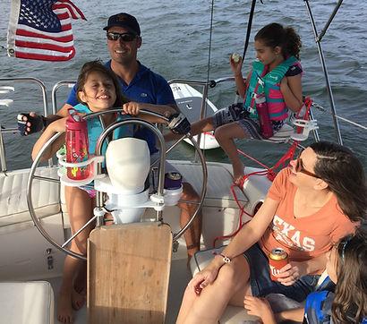 family sailing fun